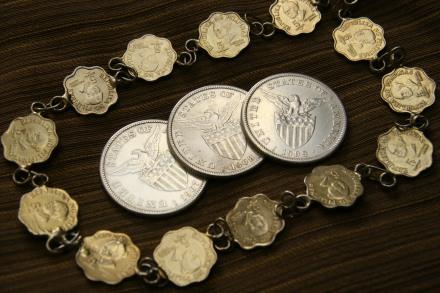 arrhae 1 peso Phil-US coins 1907